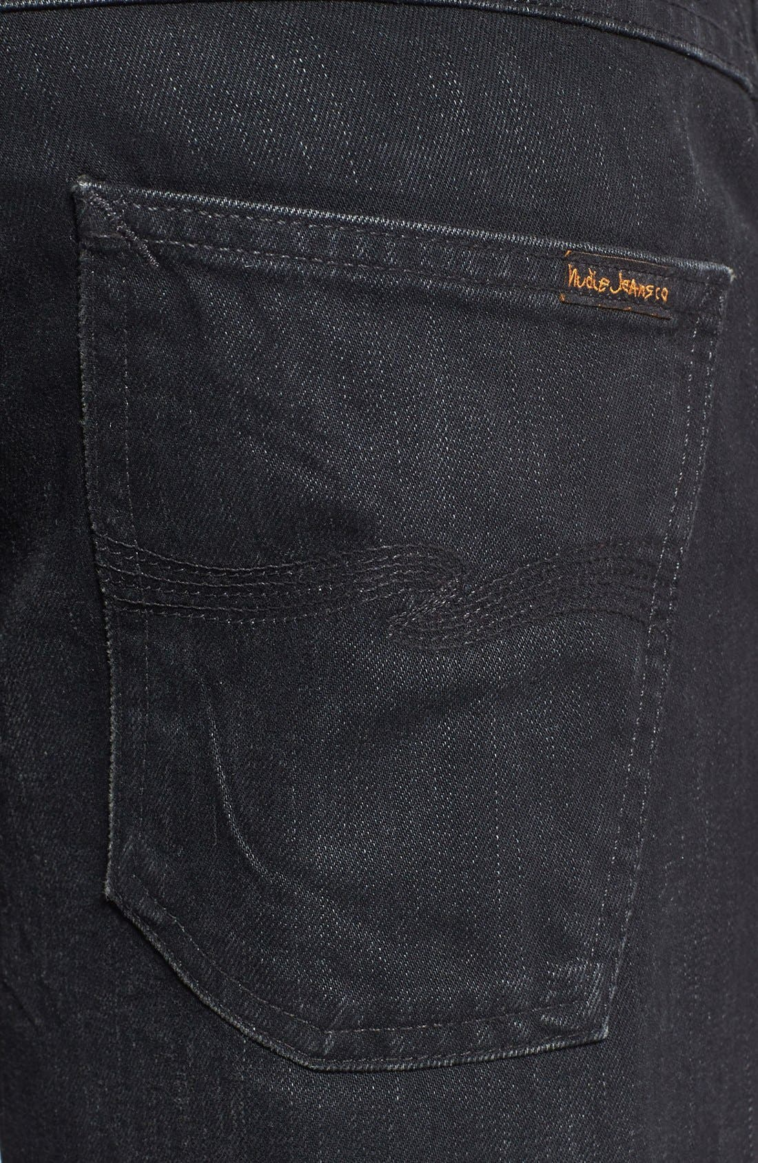 Alternate Image 4  - Nudie Jeans 'Grim Tim' Skinny Fit Jeans (Organic Black Grease)