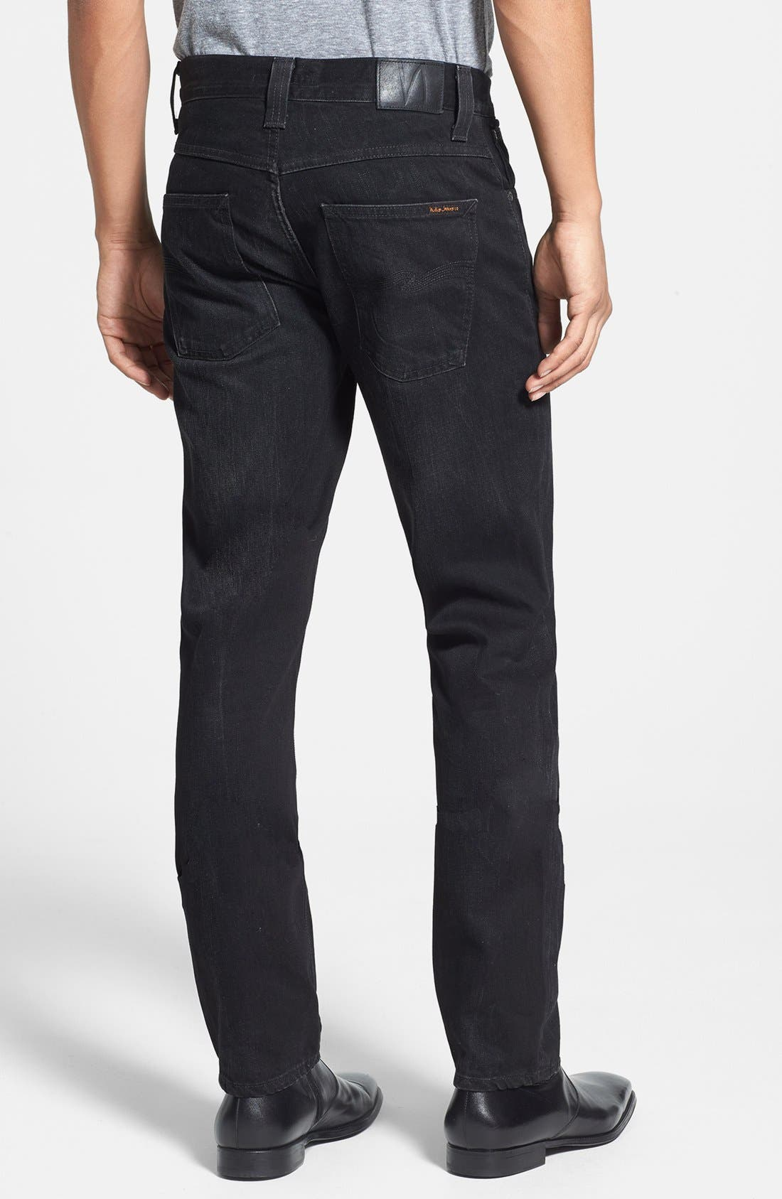 Alternate Image 2  - Nudie Jeans 'Grim Tim' Skinny Fit Jeans (Organic Black Grease)