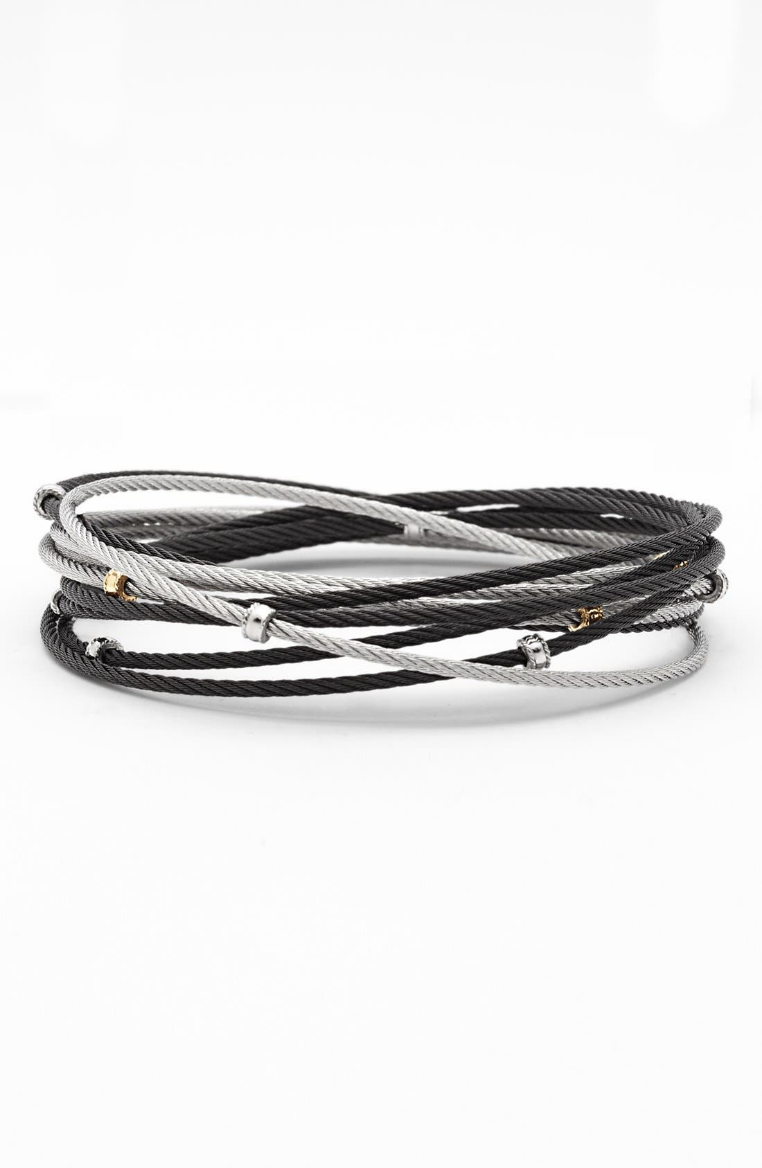 Alternate Image 1 Selected - ALOR® Interlocked Cable Bracelet Set