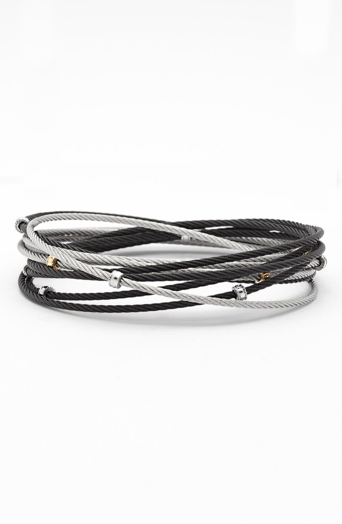 Main Image - ALOR® Interlocked Cable Bracelet Set