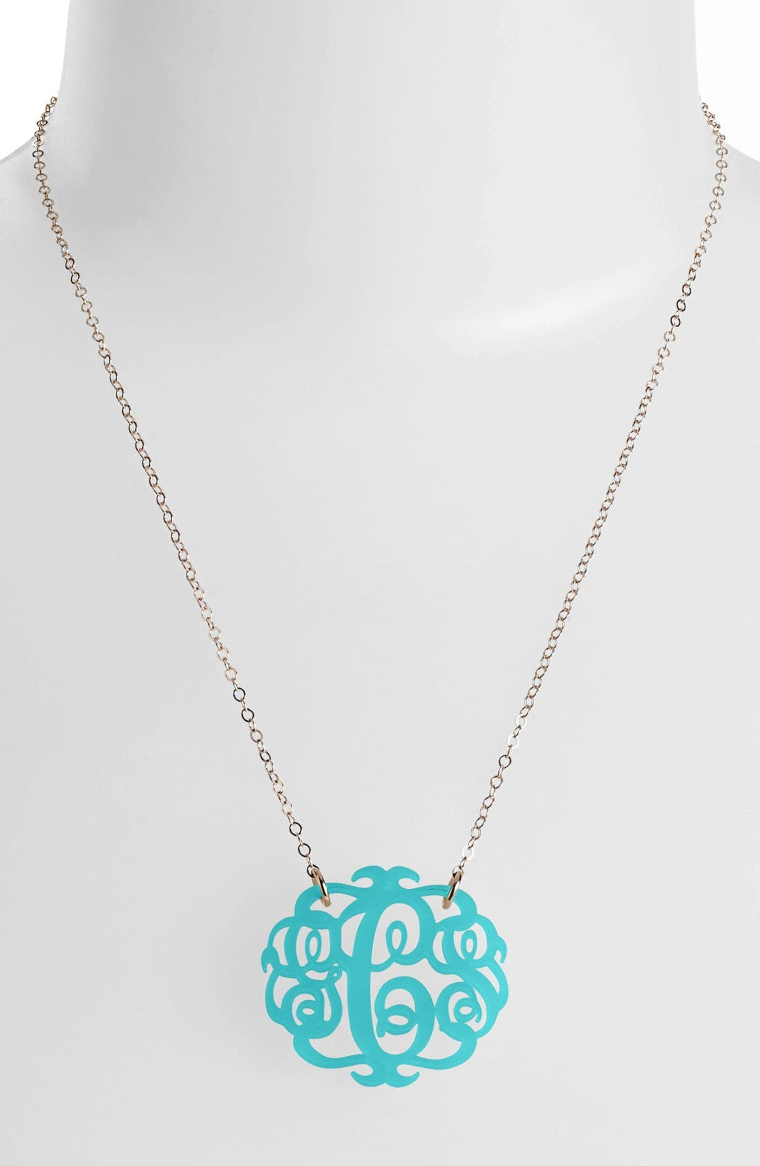 Main Image - Moon and Lola Medium Oval Personalized Monogram Pendant Necklace (Nordstrom Exclusive)