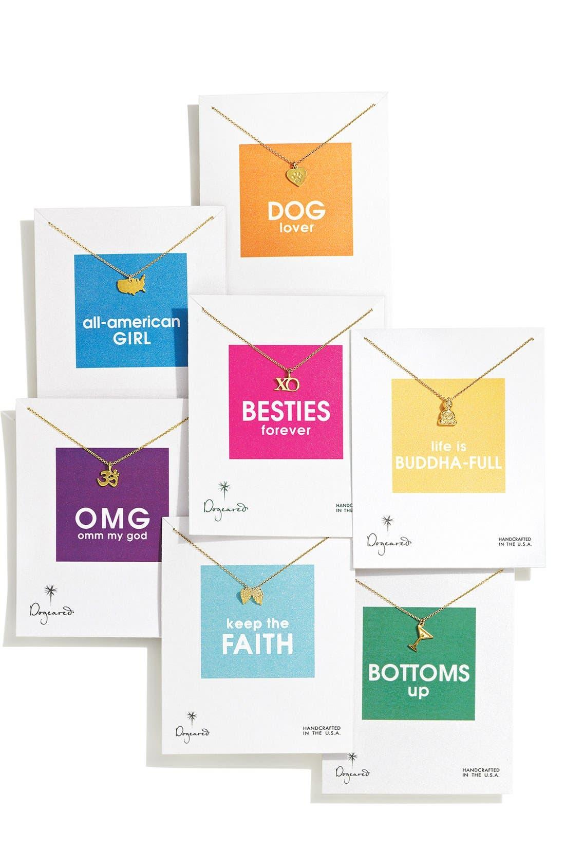 Alternate Image 3  - Dogeared 'Reminder - Shopaholic' Boxed Pendant Necklace