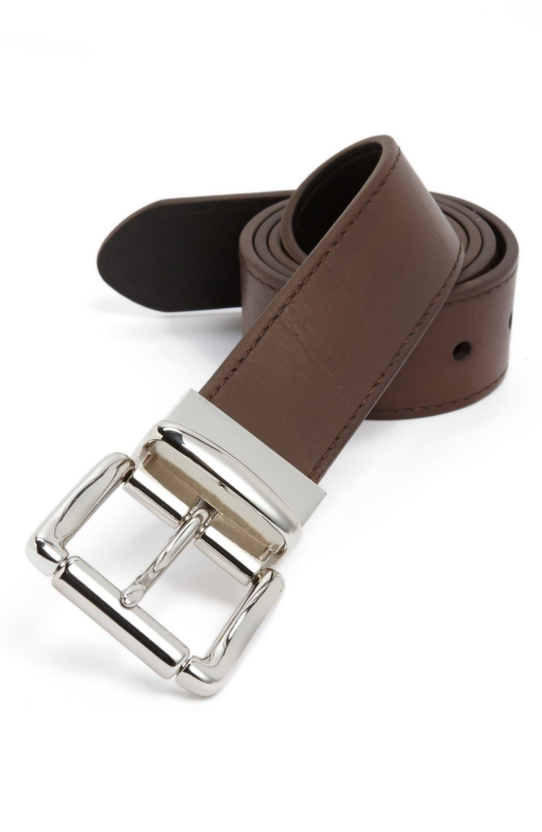 Alternate Image 1 Selected - Polo Ralph Lauren Reversible Tumbled Leather Belt