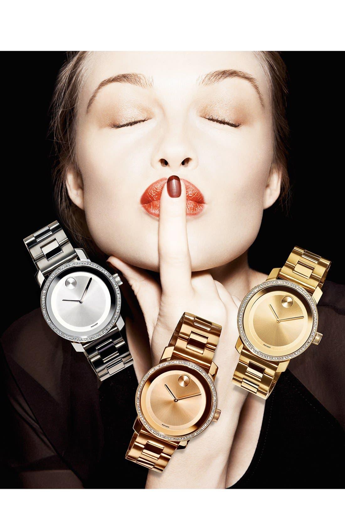 'Bold' Diamond Bezel Bracelet Watch, 36mm,                             Alternate thumbnail 2, color,