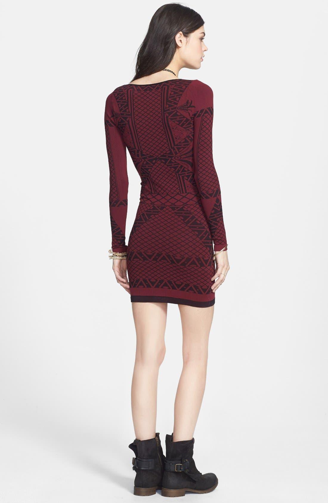 Alternate Image 2  - Free People 'Angles of Intarsia' Body-Con Dress