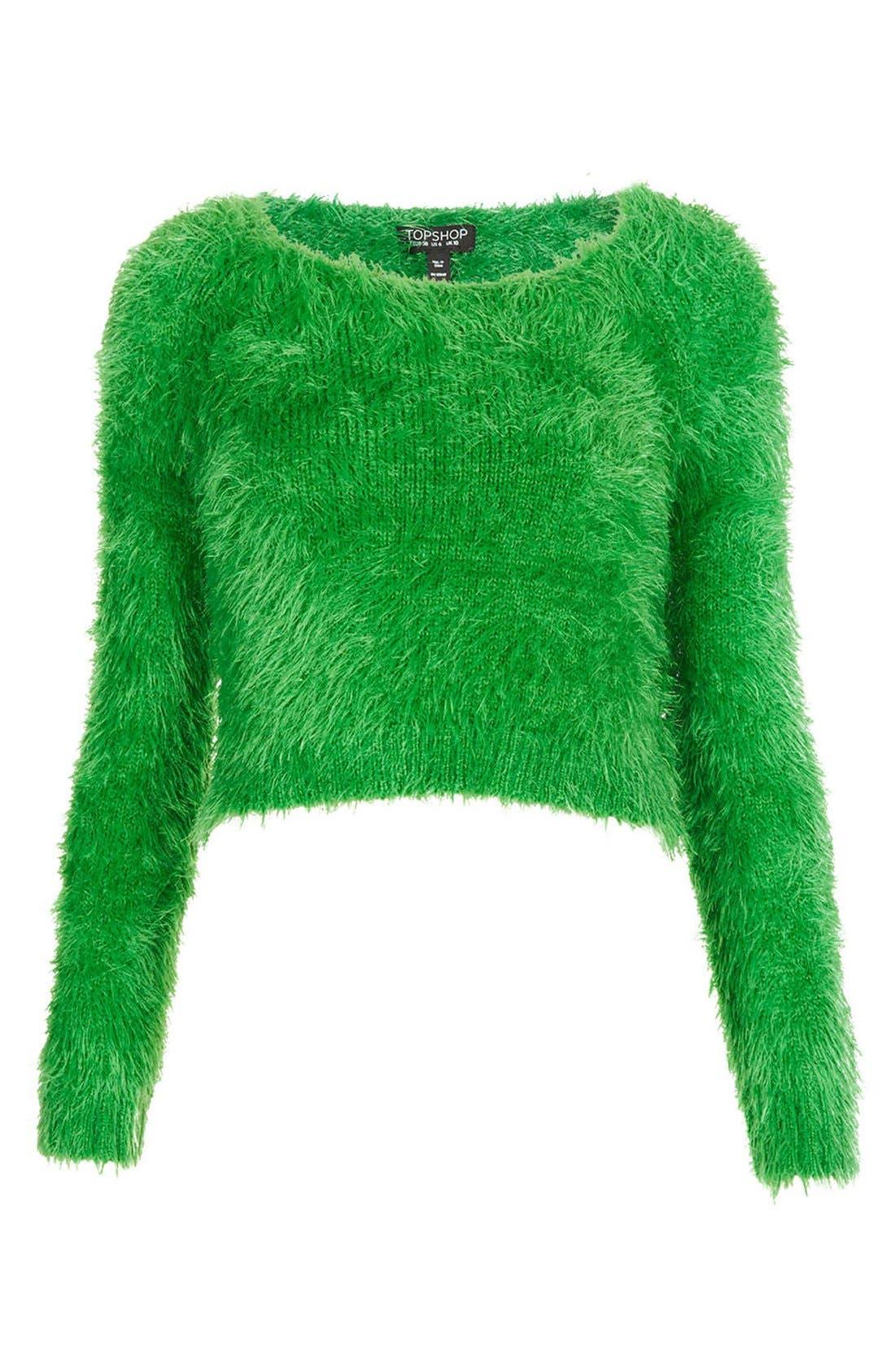 Alternate Image 3  - Topshop 'Gaga' Textured Crop Sweater