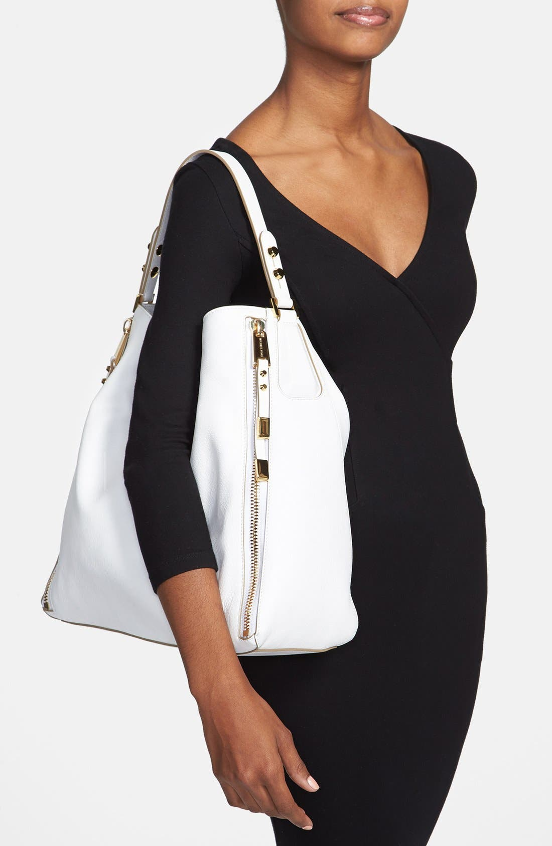 Alternate Image 2  - Michael Kors 'Miranda - Zips' Leather Hobo