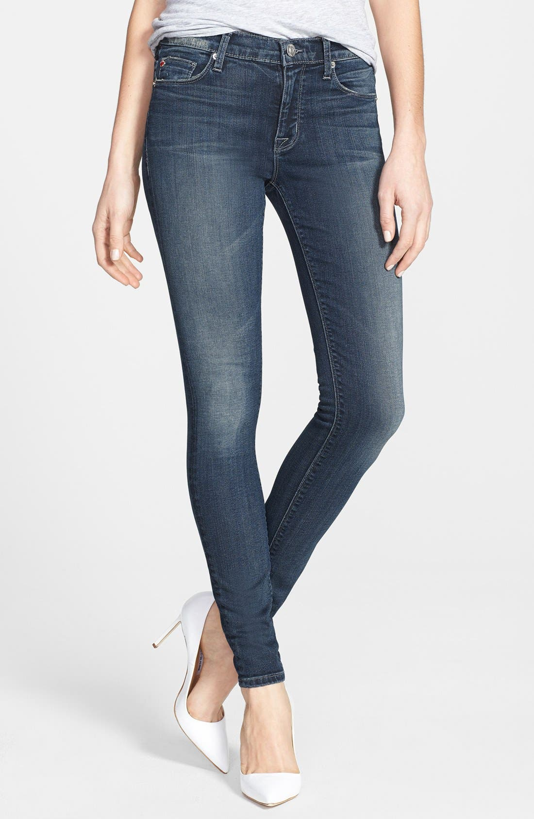 Alternate Image 1 Selected - Hudson Jeans 'Nico' Super Skinny Jeans (Epic Wash)