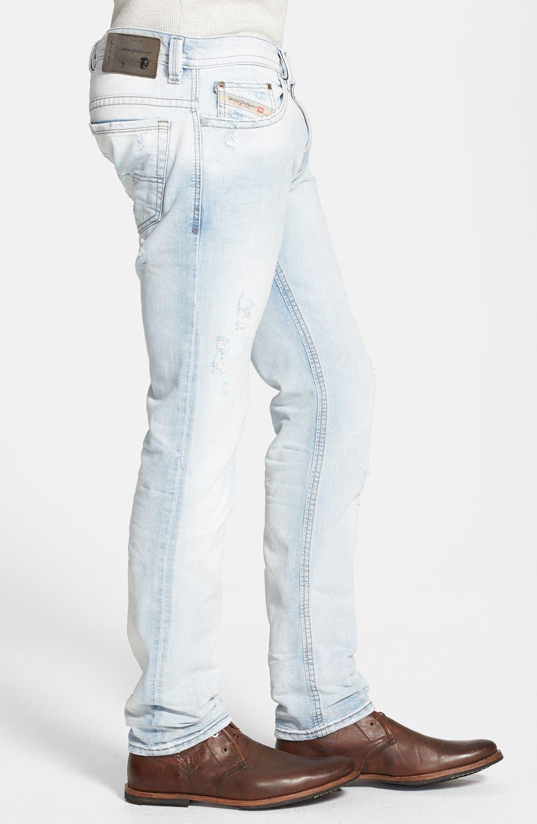 Alternate Image 3  - DIESEL® 'Thavar' Skinny Fit Jeans (0825M)