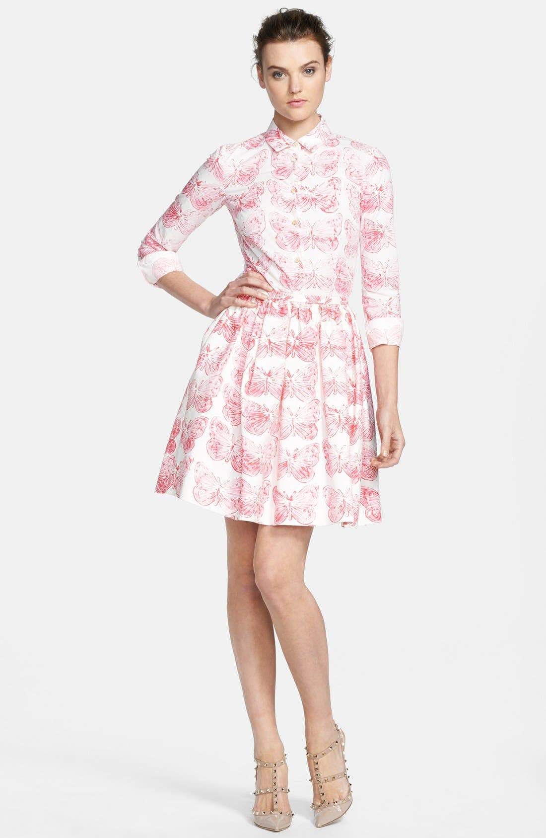 Alternate Image 4  - RED Valentino Butterfly Print Pleated Skirt