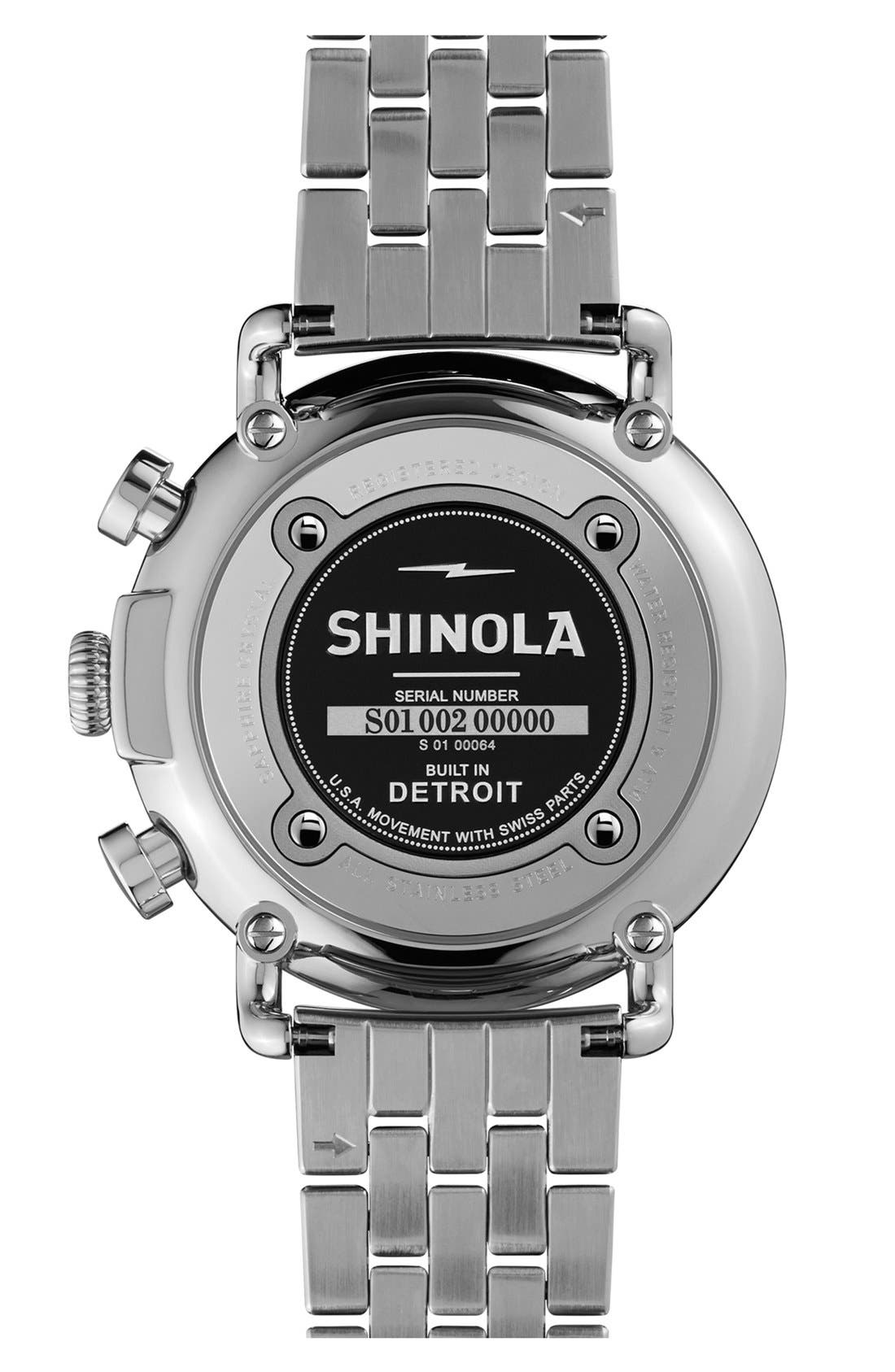 Alternate Image 2  - Shinola 'The Runwell Chrono' Bracelet Watch, 41mm