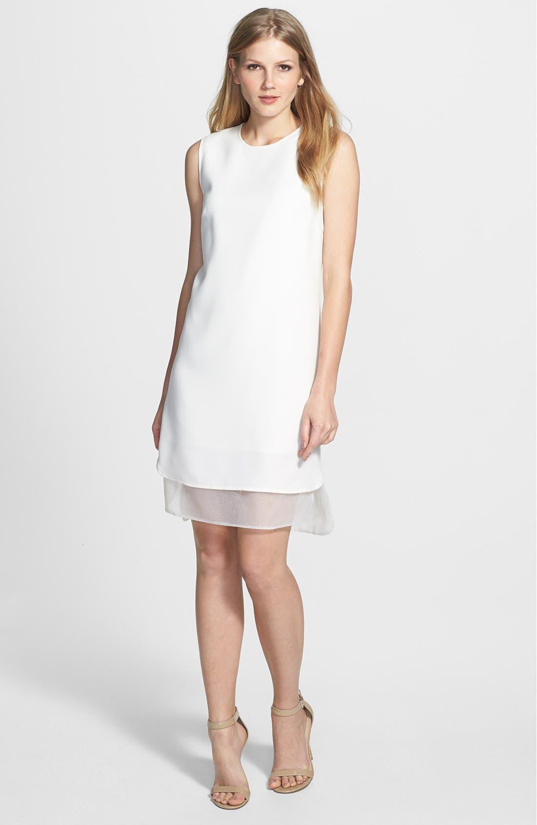 Main Image - Vince Camuto Organza Trim Sheath Dress