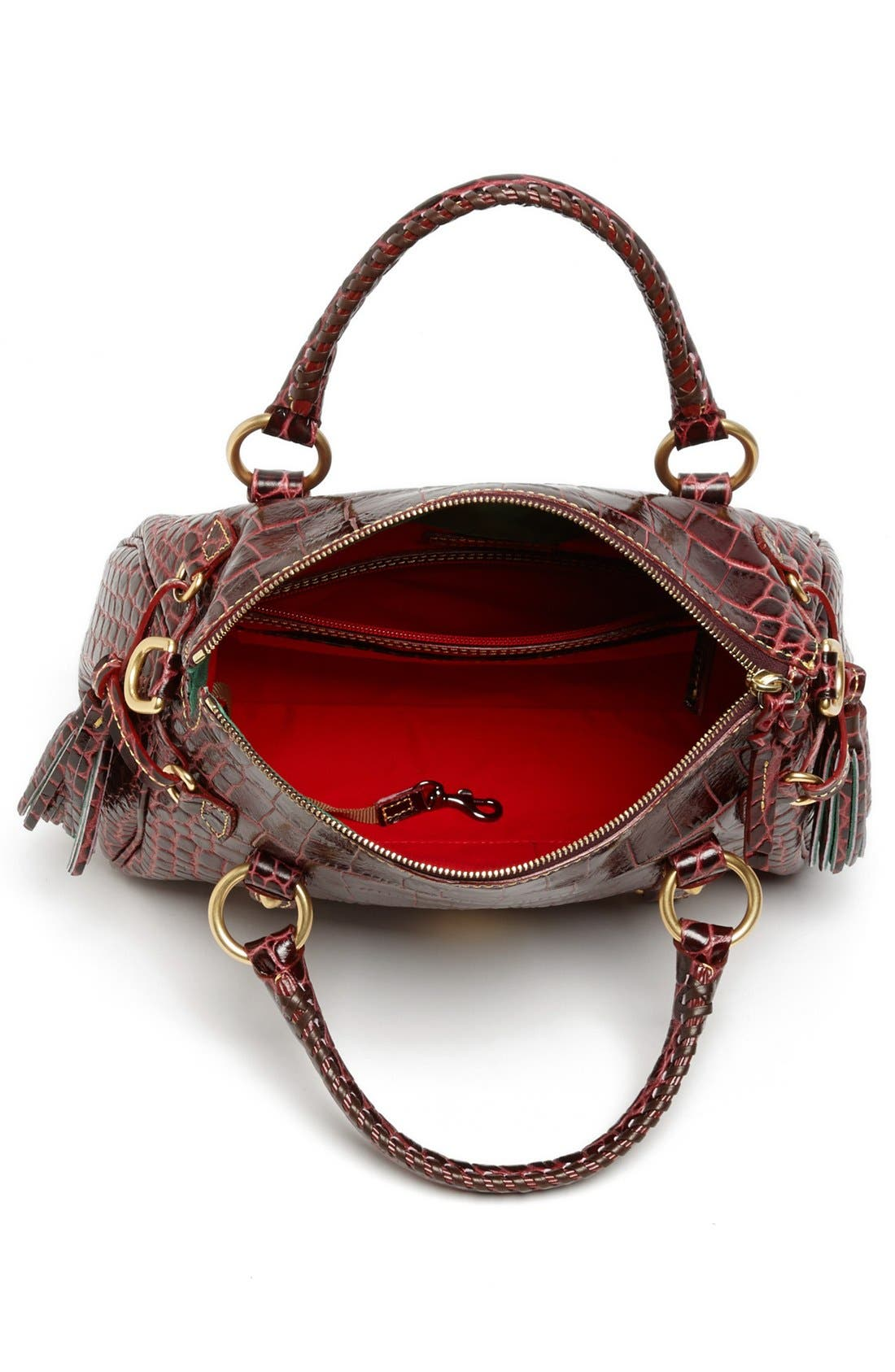 Alternate Image 3  - Dooney & Bourke 'Small' Croc-Embossed Leather Satchel
