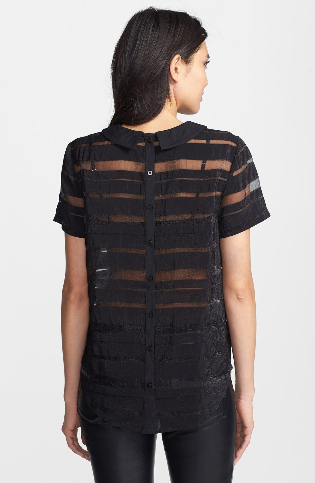 Alternate Image 2  - Tildon Stripe Sheer Blouse
