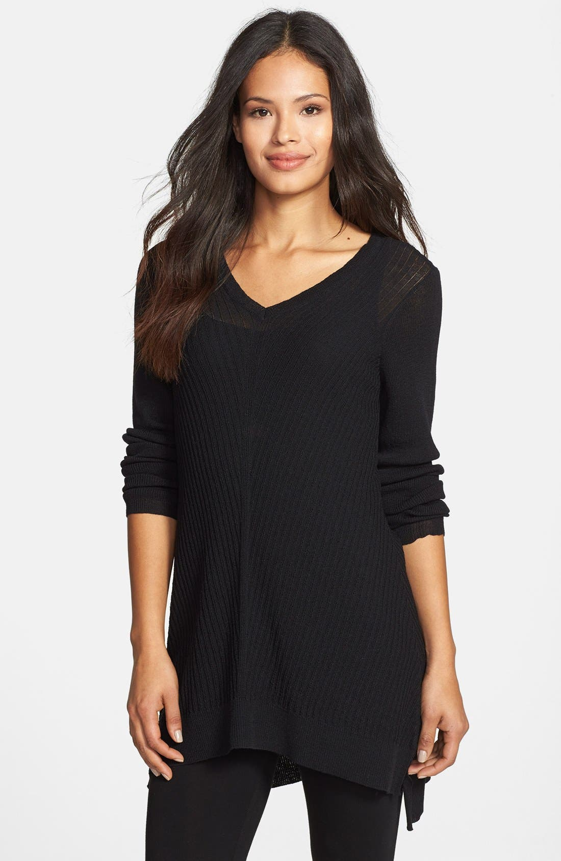 Main Image - Eileen Fisher Washable Wool V-Neck Tunic