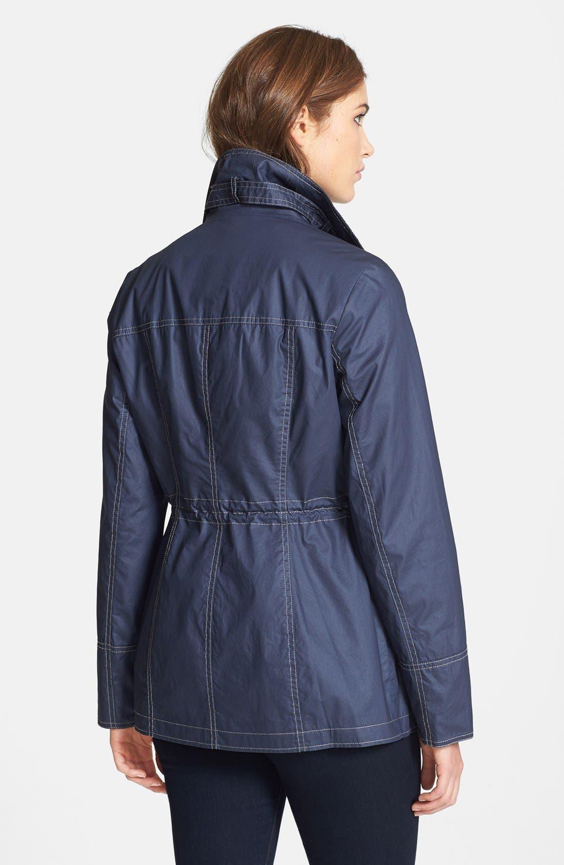 Alternate Image 2  - MICHAEL Michael Kors Contrast Stitch Waxed Cotton Anorak Jacket