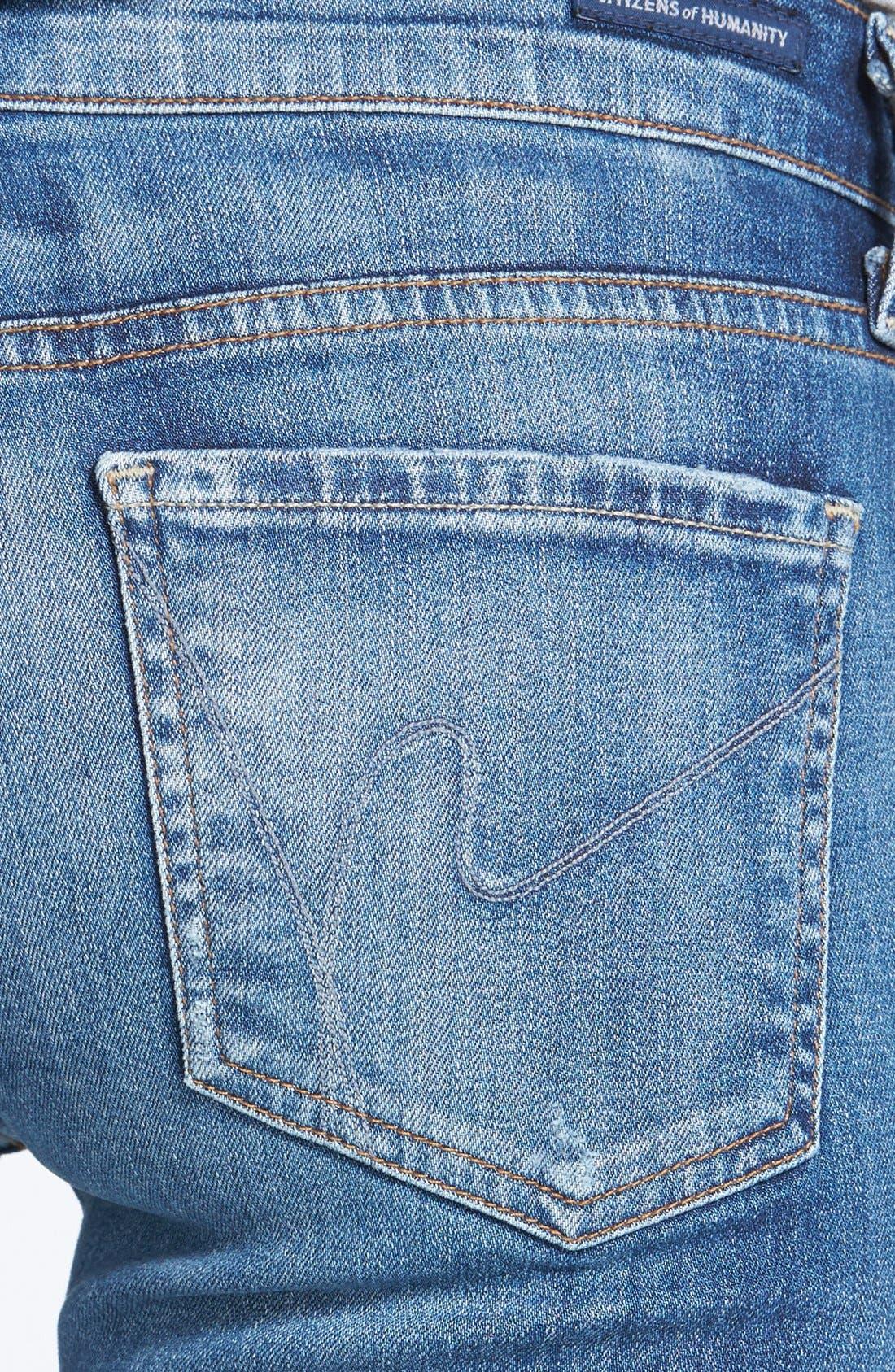 Whiskered Skinny Jeans,                             Alternate thumbnail 3, color,                             Weekender