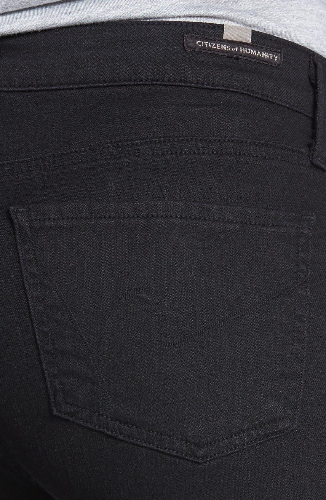 Alternate Image 3  - Citizens of Humanity Skinny Crop Jeans (Black Diamond)