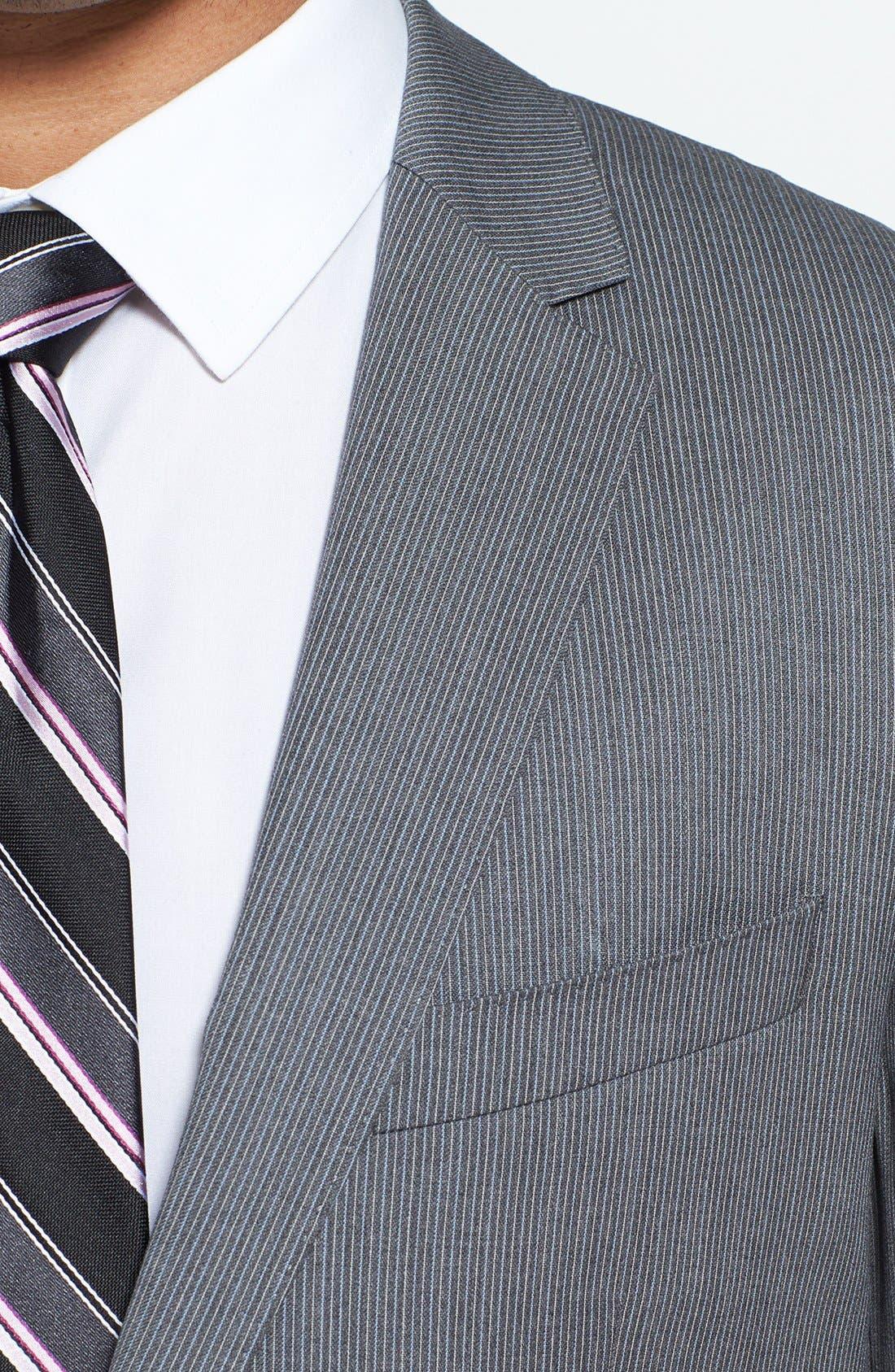 Alternate Image 5  - BOSS HUGO BOSS 'Ryan/Win' Extra Trim Fit Stripe Suit