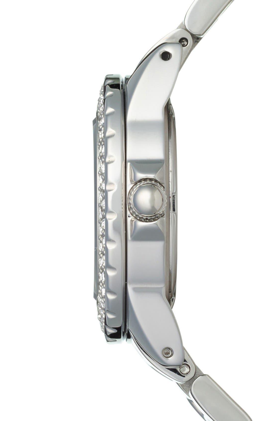 Alternate Image 3  - Folli Follie 'Daydream' Crystal Bezel Bracelet Watch, 29mm