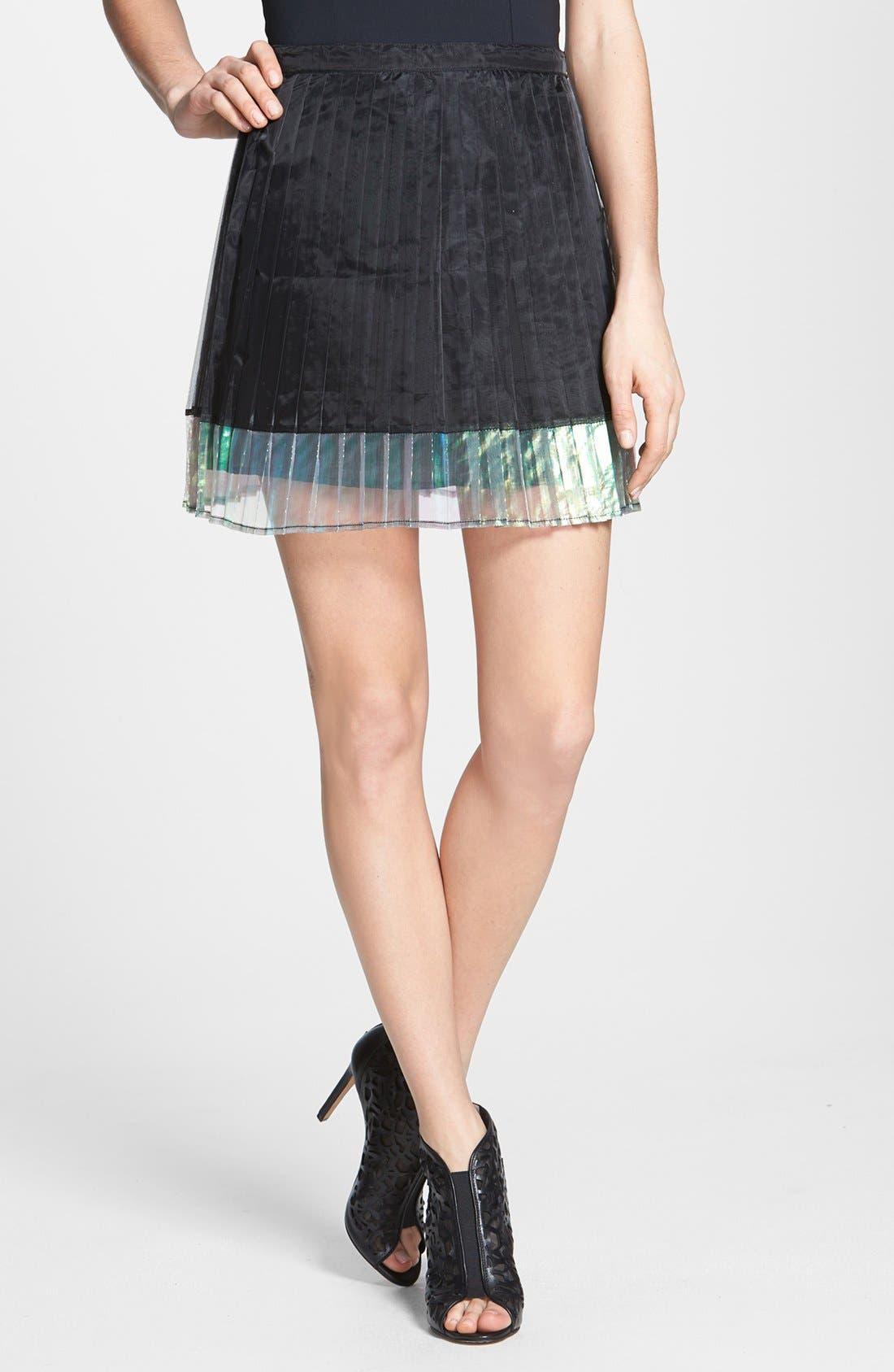 Alternate Image 1 Selected - MINKPINK 'Mother of Pearl' Knife Pleat Skirt