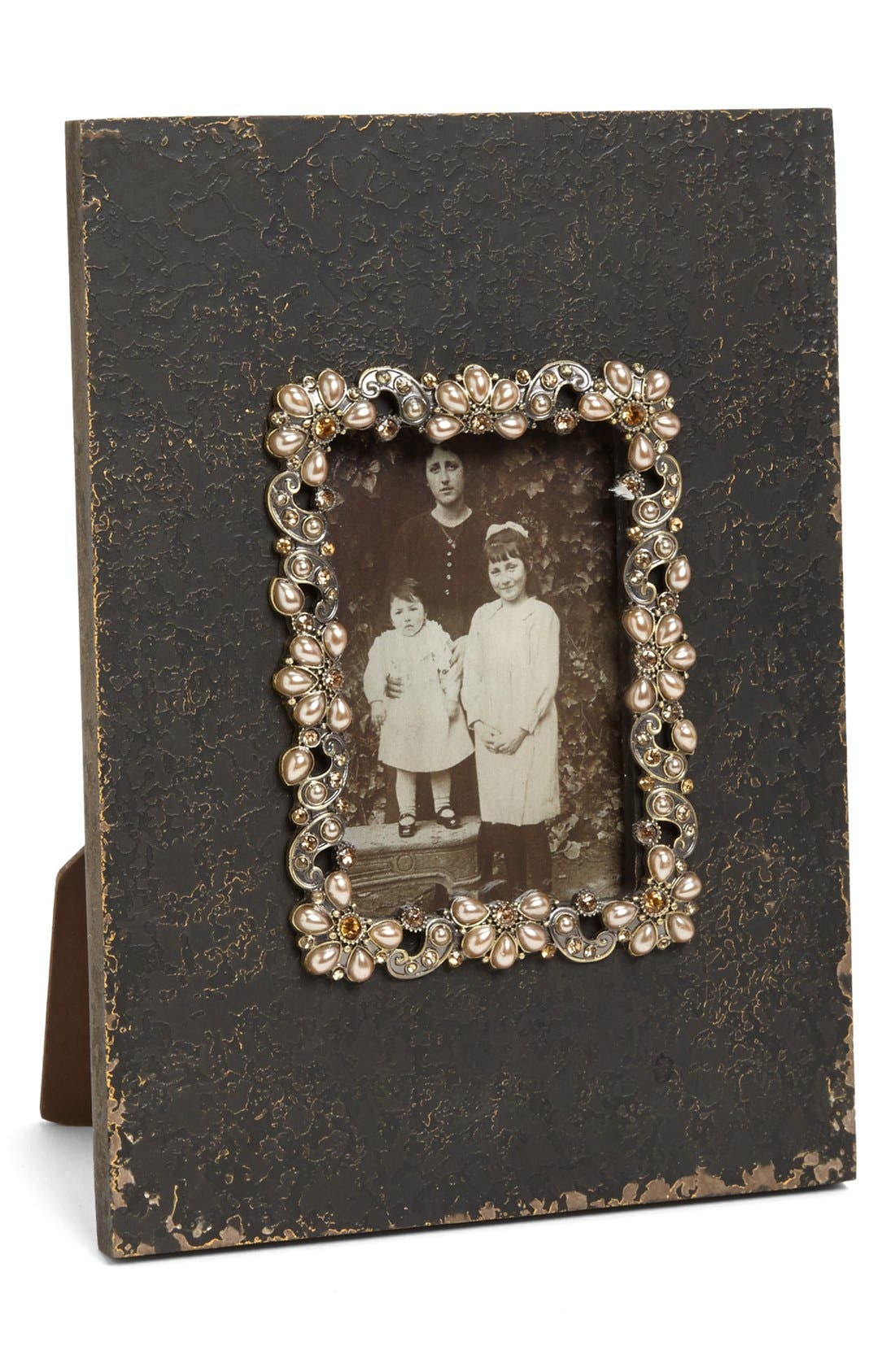 Main Image - Antiqued Jeweled Picture Frame (3x5)