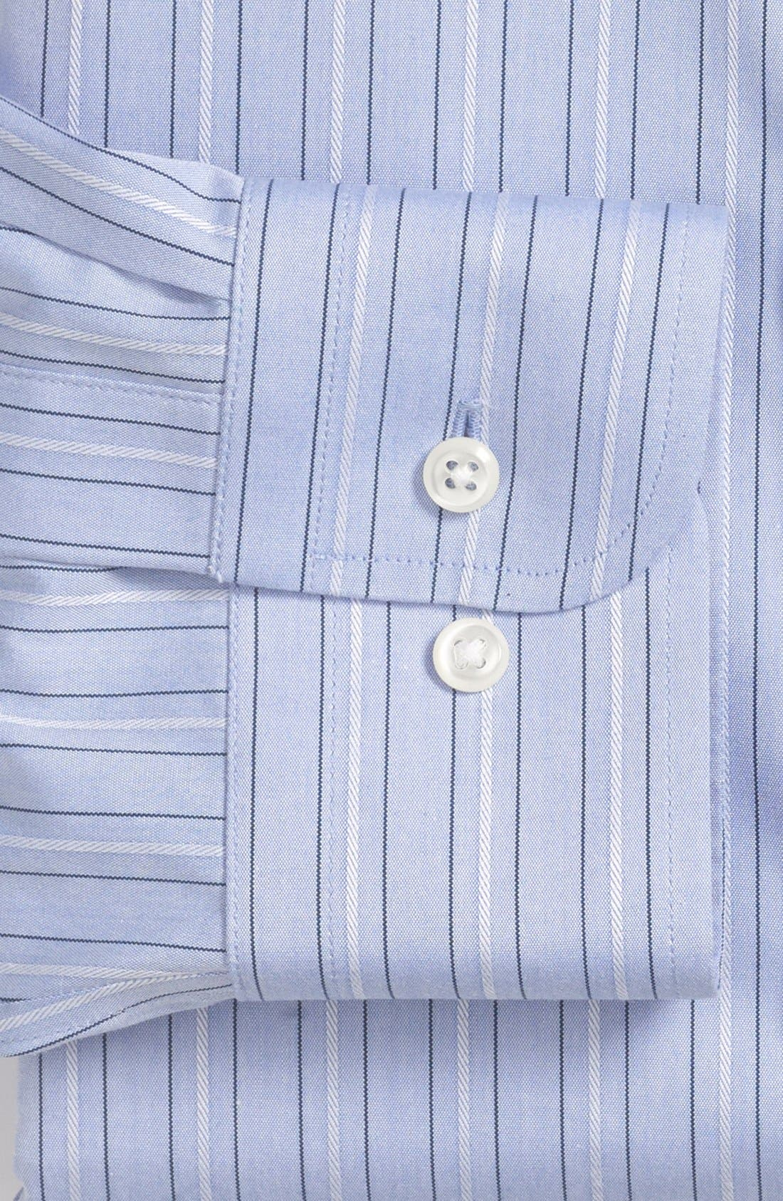 Alternate Image 2  - Nordstrom Smartcare™ Trim Fit Stripe Non-Iron Dress Shirt