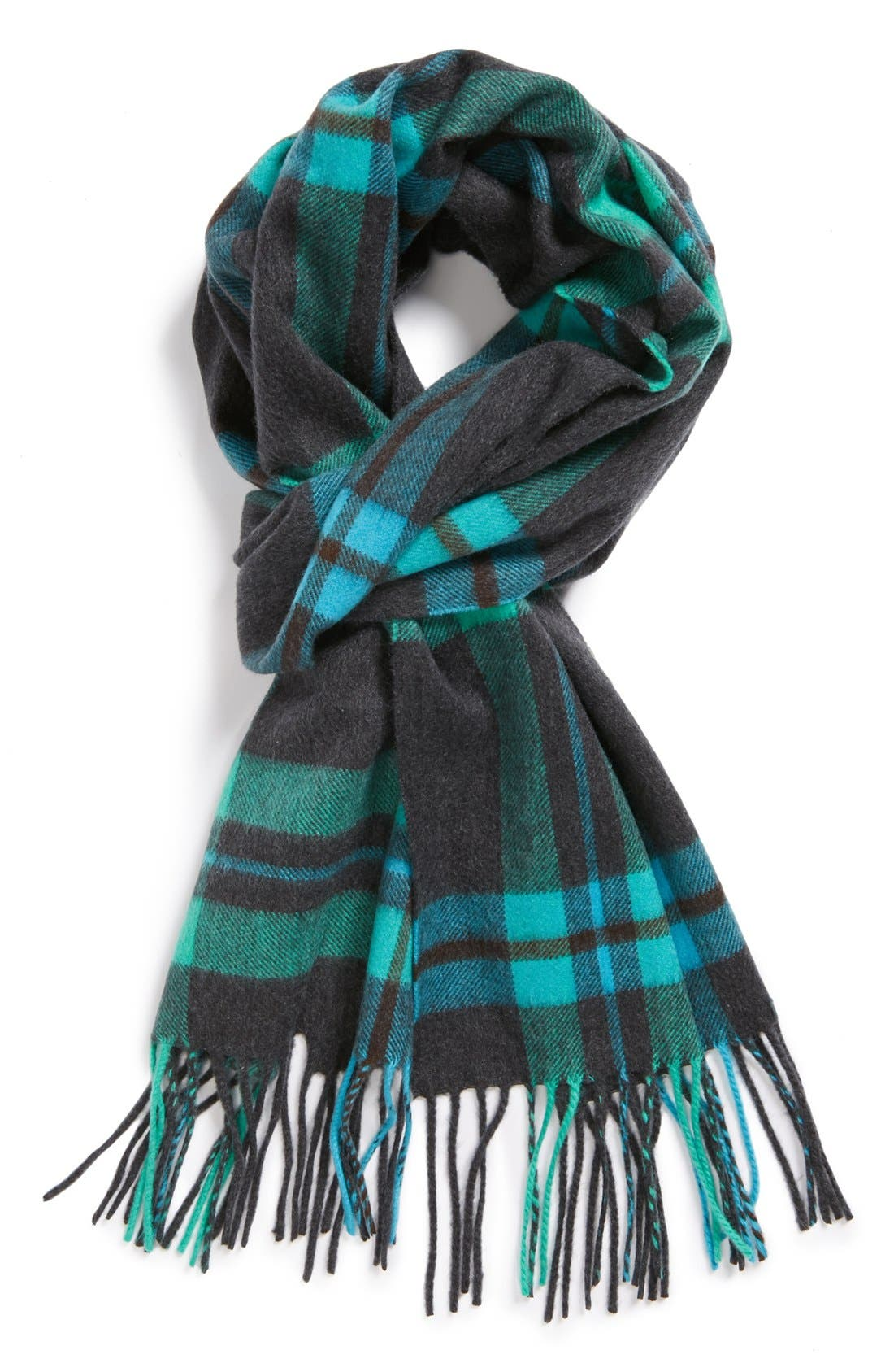 Alternate Image 1 Selected - Andrew Stewart 'Amicale Plains' Cashmere Scarf