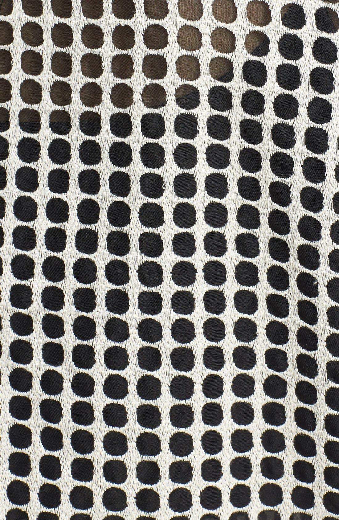 Alternate Image 3  - Vince Camuto Two-Tone Dot Print Organza Blouse