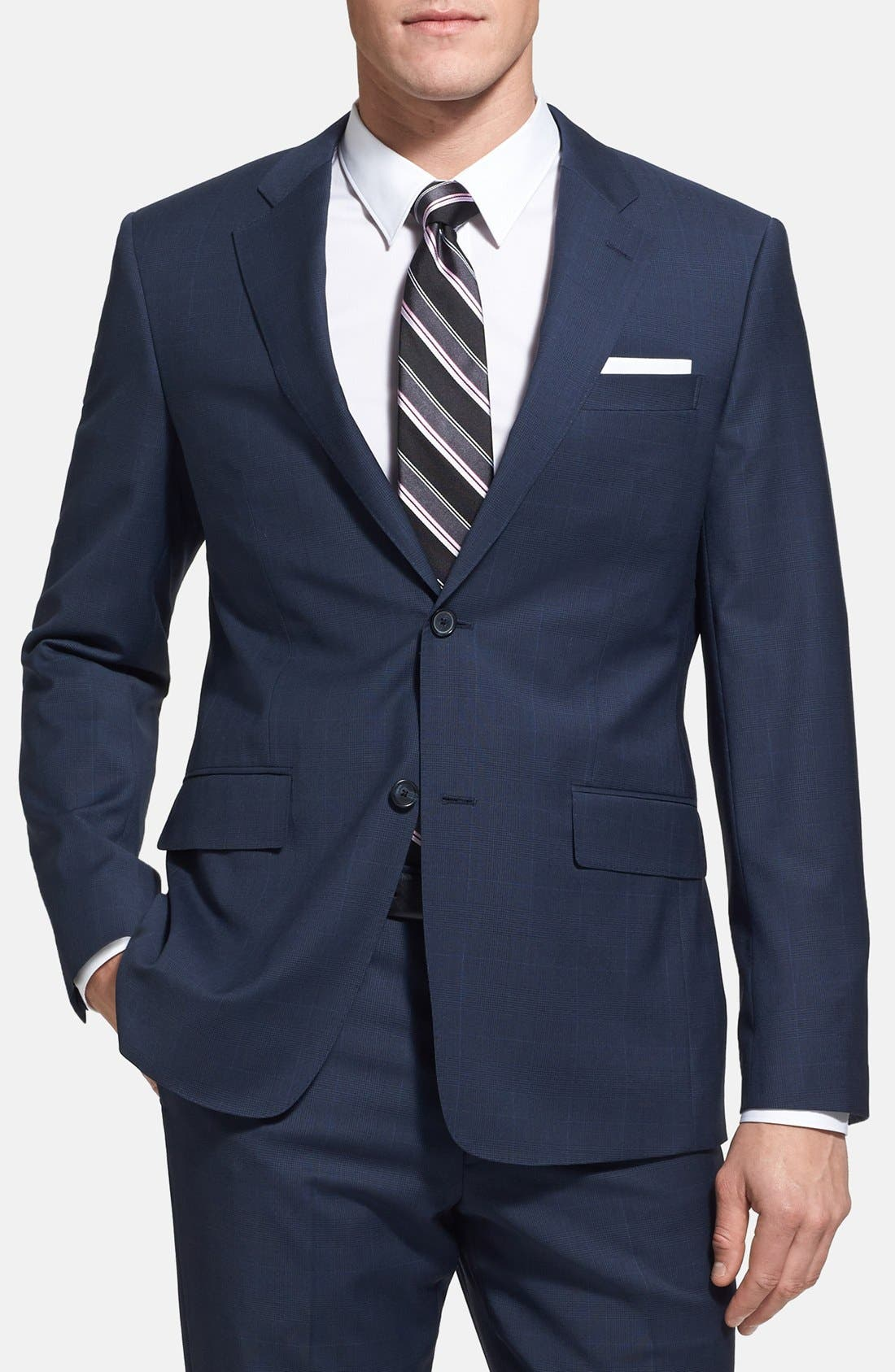 Alternate Image 3  - John W. Nordstrom® Classic Fit Windowpane Wrinkle Free Travel Suit