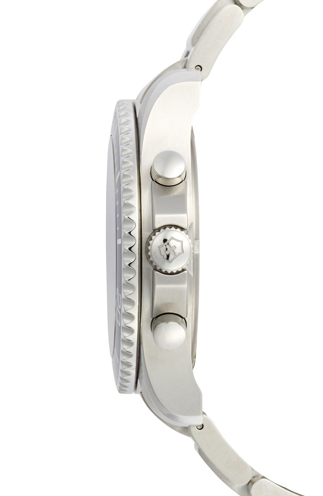 Alternate Image 3  - Victorinox Swiss Army® 'Maverick GS' Stainless Steel Chronograph Watch, 43mm