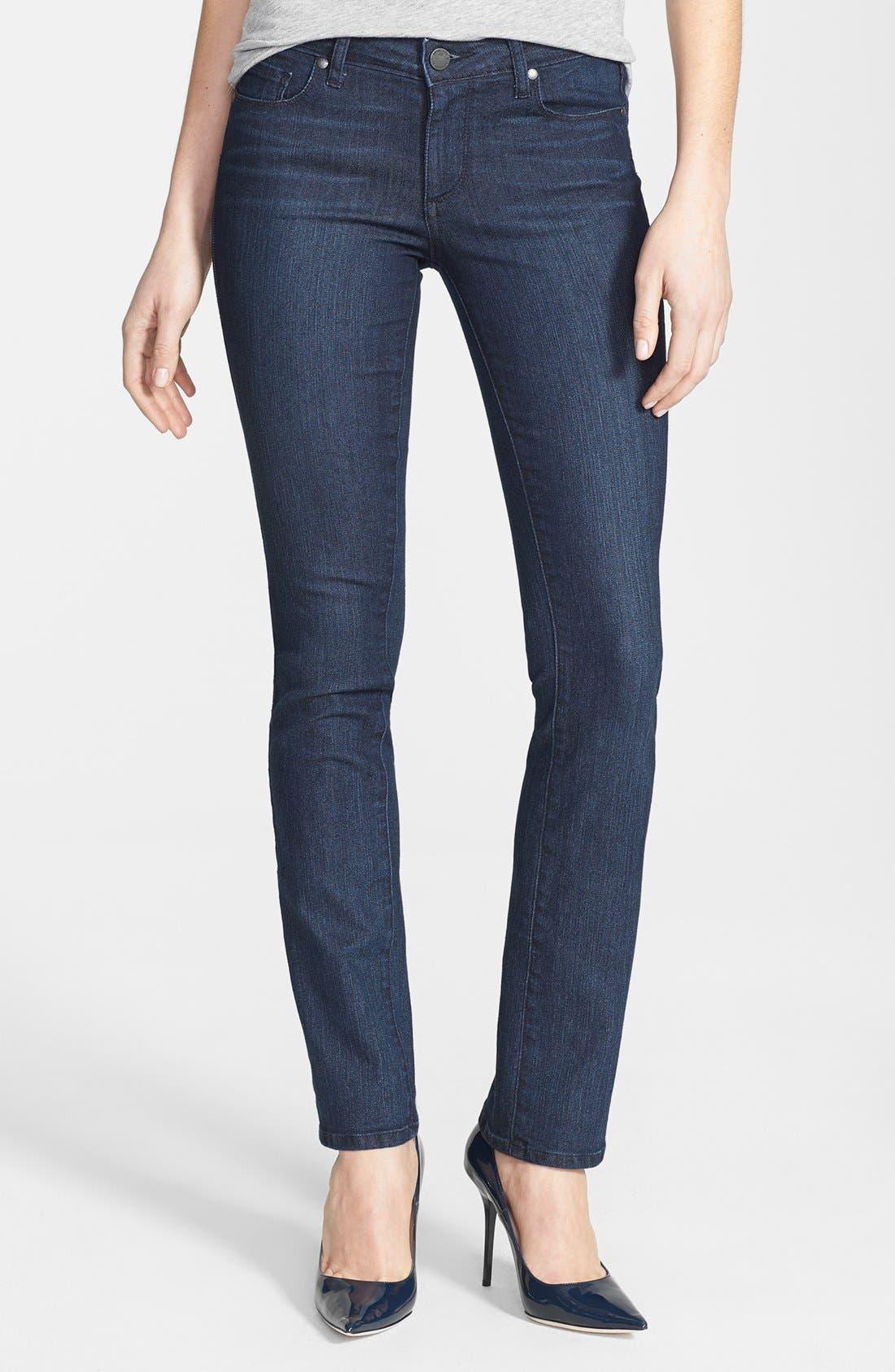 Main Image - Paige Denim 'Skyline' Straight Leg Jeans (Manchester) (Petite)