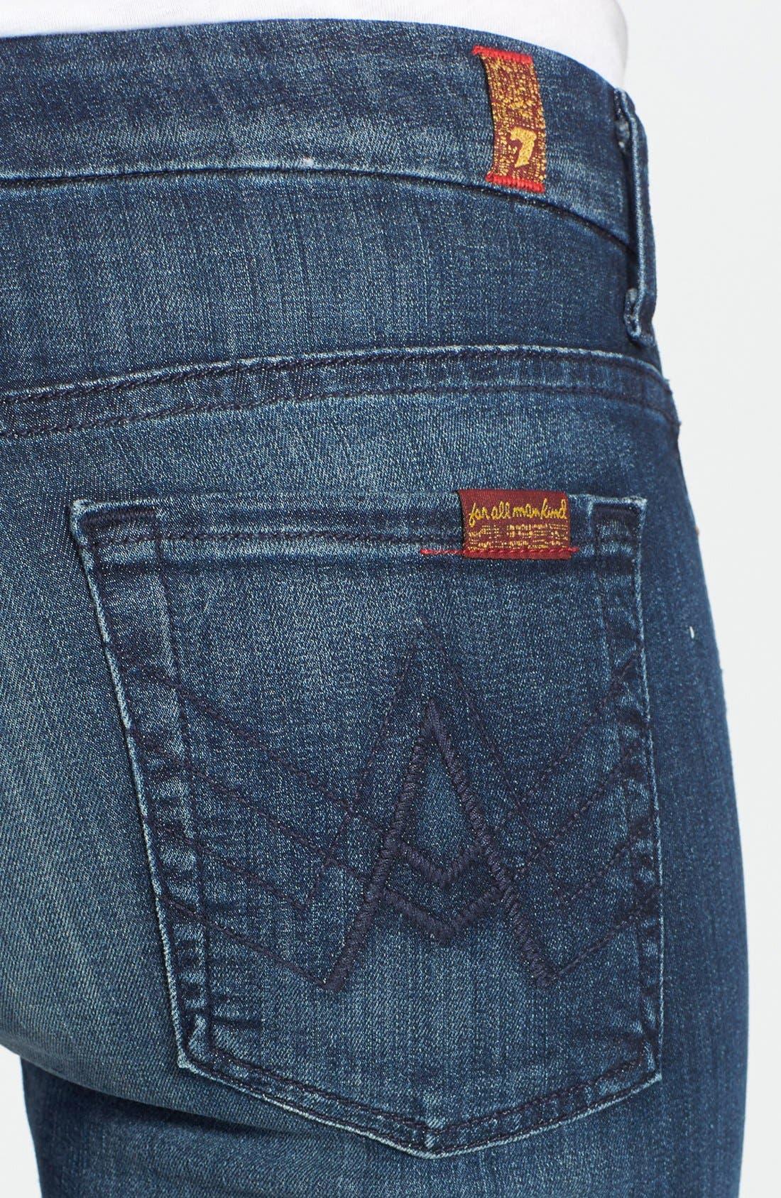 Alternate Image 3  - 7 For All Mankind® 'A-Pocket' Bootcut Jeans (Dark Destroy)