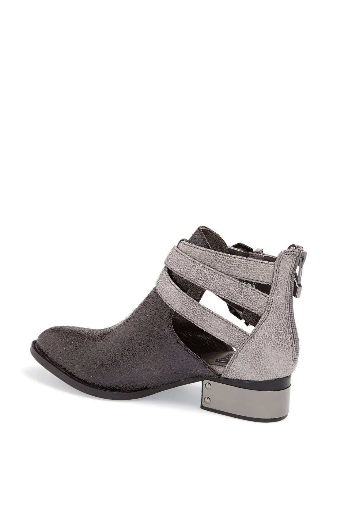 'Everly' Bootie,                             Alternate thumbnail 2, color,                             Grey Cracked Combo
