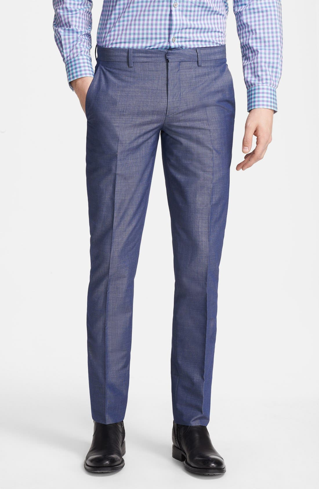 Alternate Image 1 Selected - PS Paul Smith Slim Fit Textured Pants