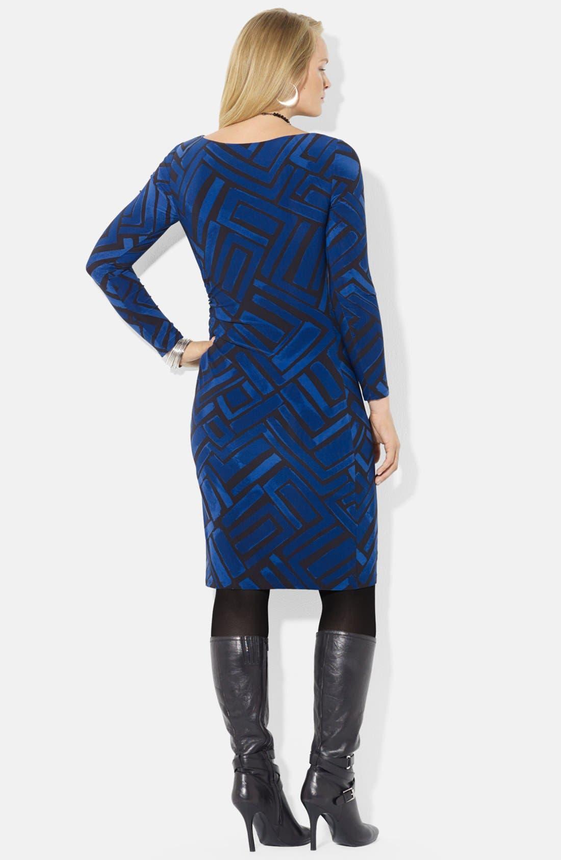 Alternate Image 2  - Lauren Ralph Lauren Print Jersey Dress