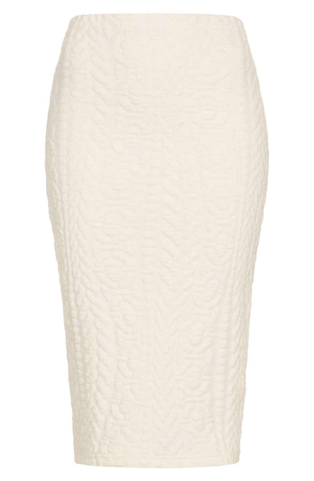 Alternate Image 3  - Topshop Jacquard Tube Skirt