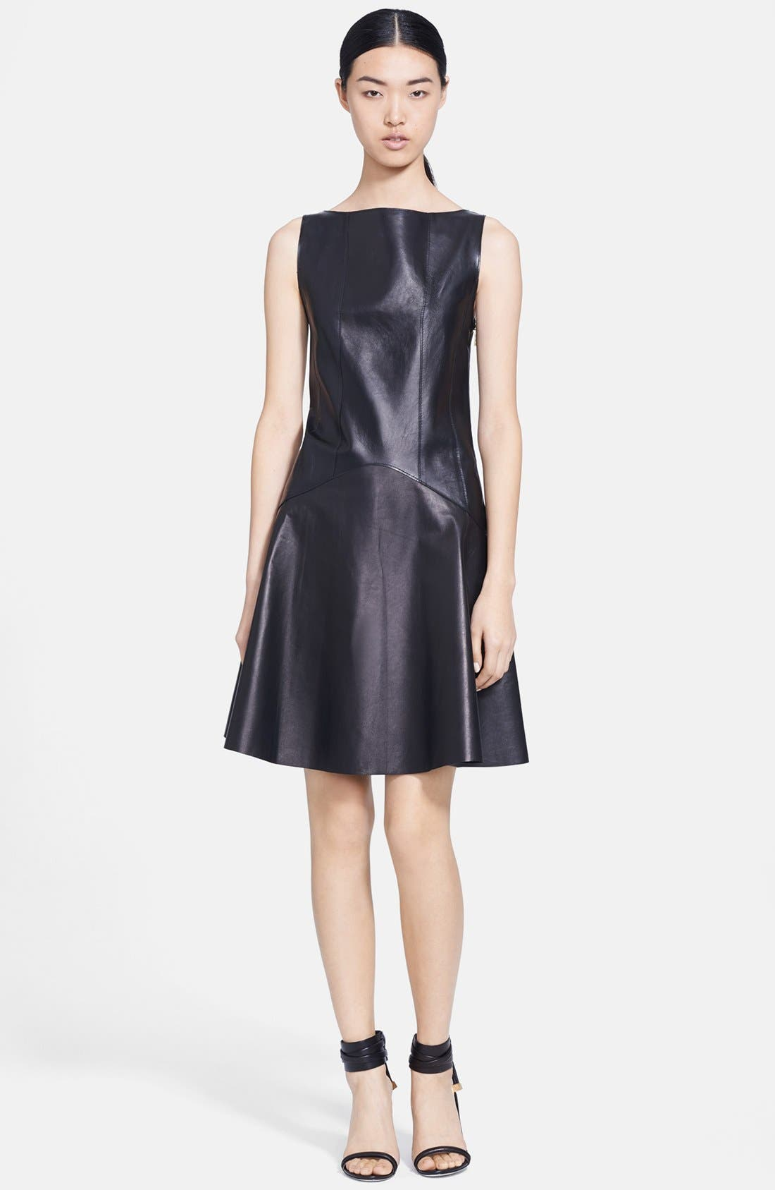 Alternate Image 1 Selected - Jason Wu Corset Back Leather Dress