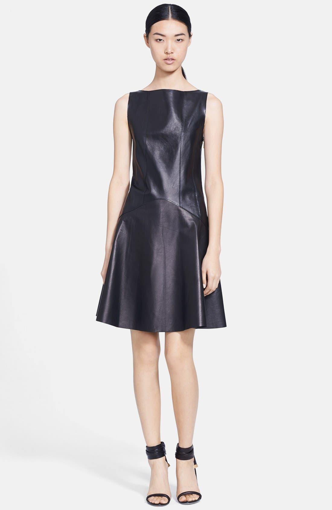 Main Image - Jason Wu Corset Back Leather Dress