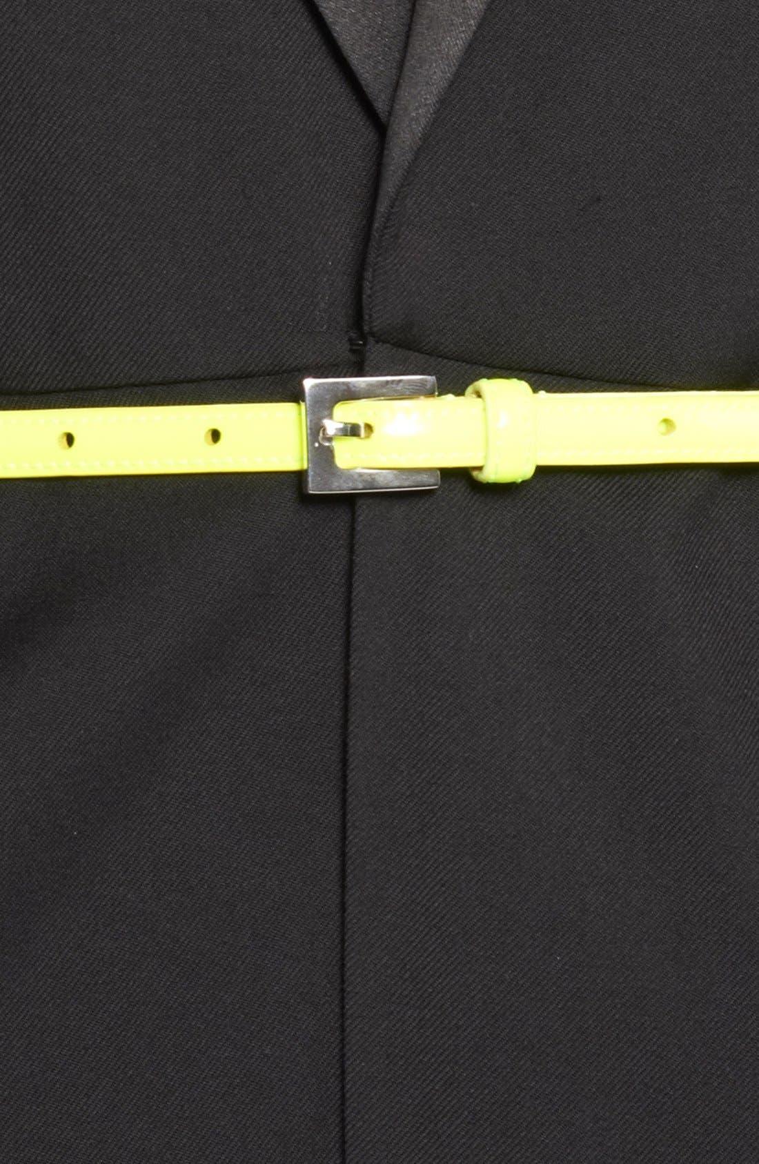 Alternate Image 2  - Saint Laurent Leather Skinny Belt