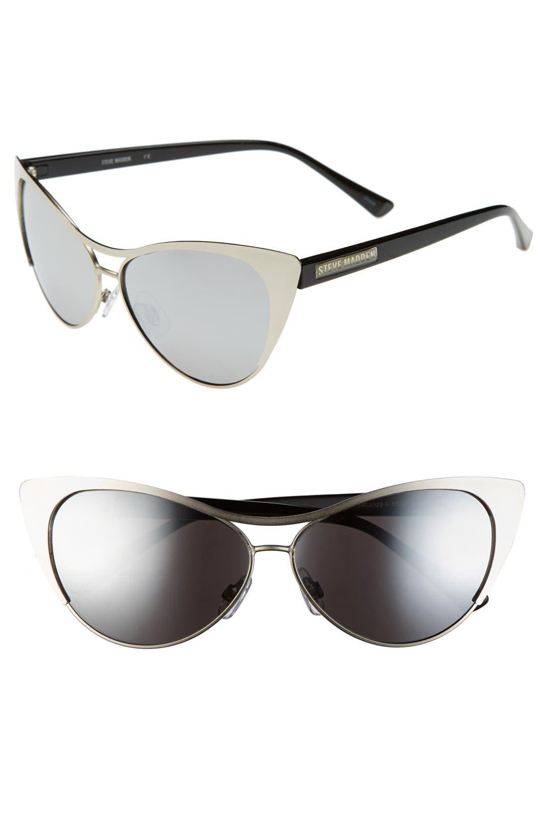 Alternate Image 1 Selected - Steve Madden 60mm Cat Eye Sunglasses