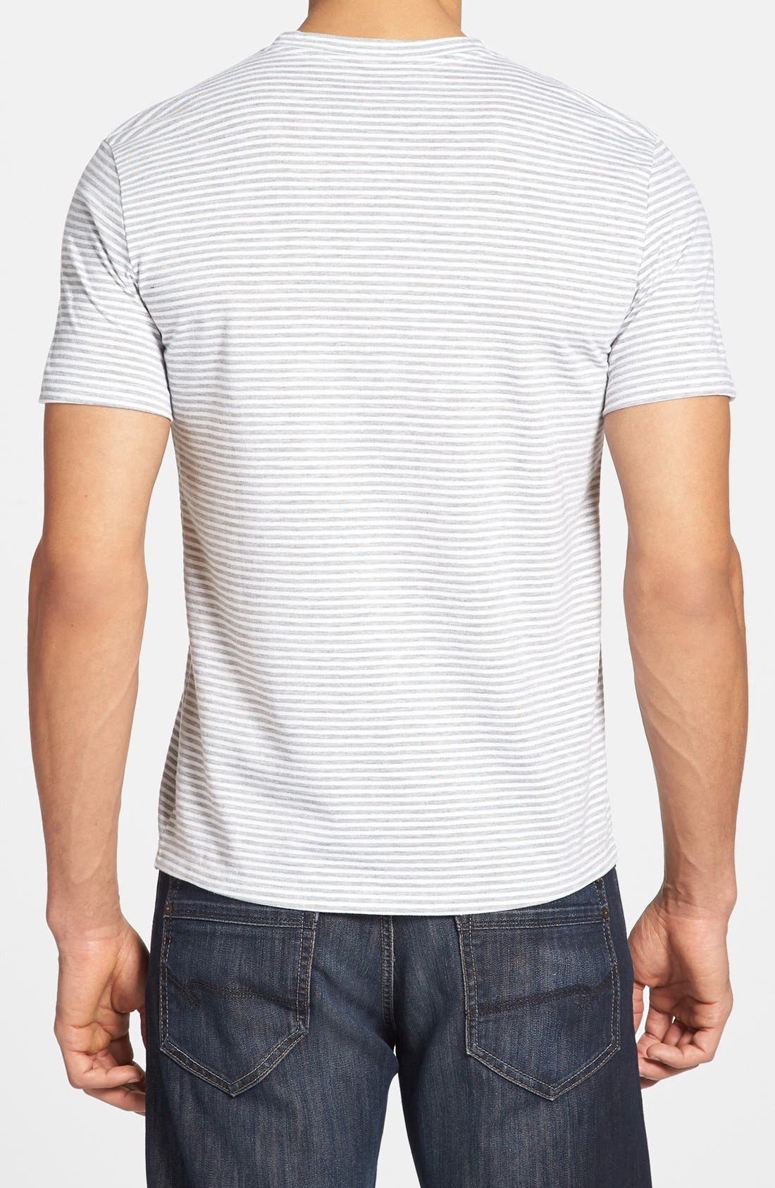 Alternate Image 2  - The Rail Feeder Stripe Crewneck T-Shirt