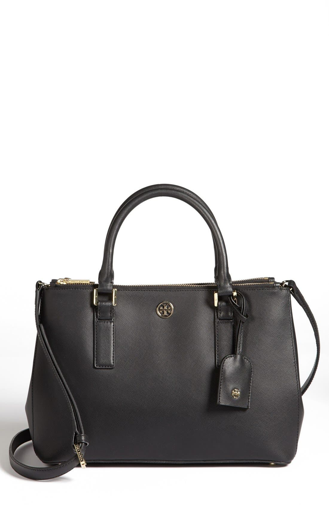 Alternate Image 1 Selected - Tory Burch 'Robinson - Mini' Double Zip Tote
