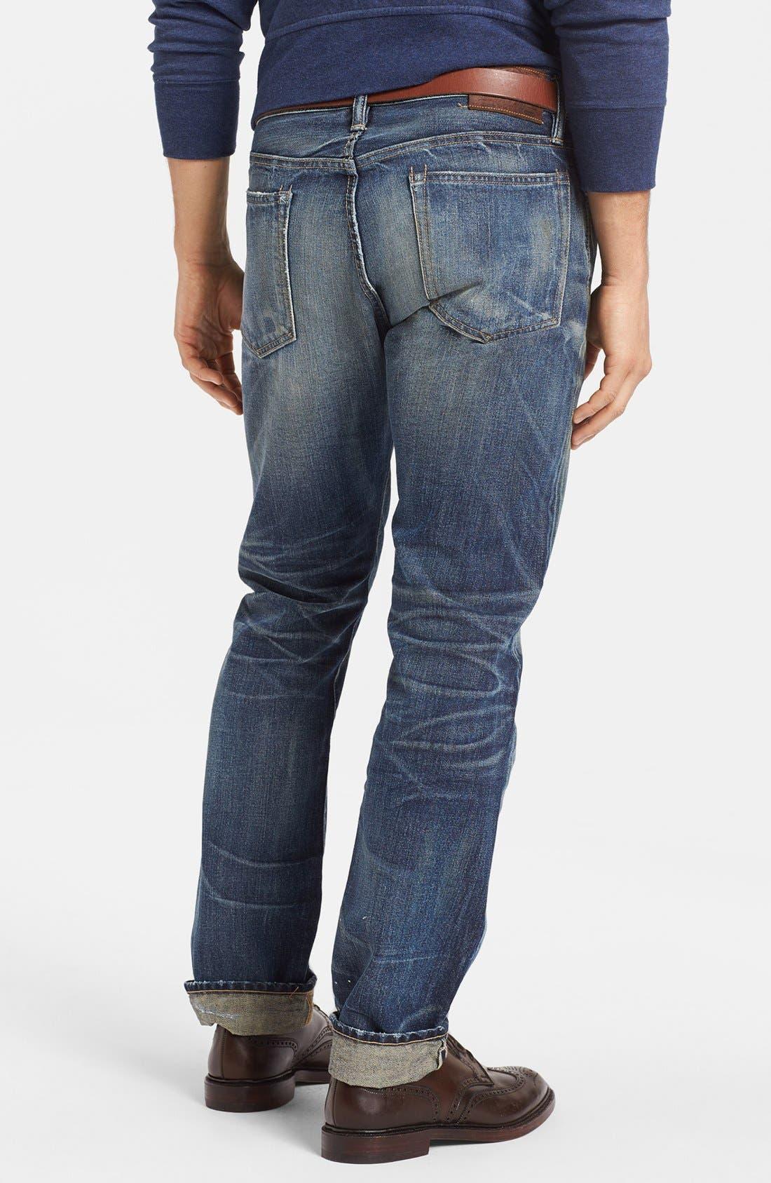 Alternate Image 2  - Polo Ralph Lauren Slim Fit Jeans (Linden Rinse)