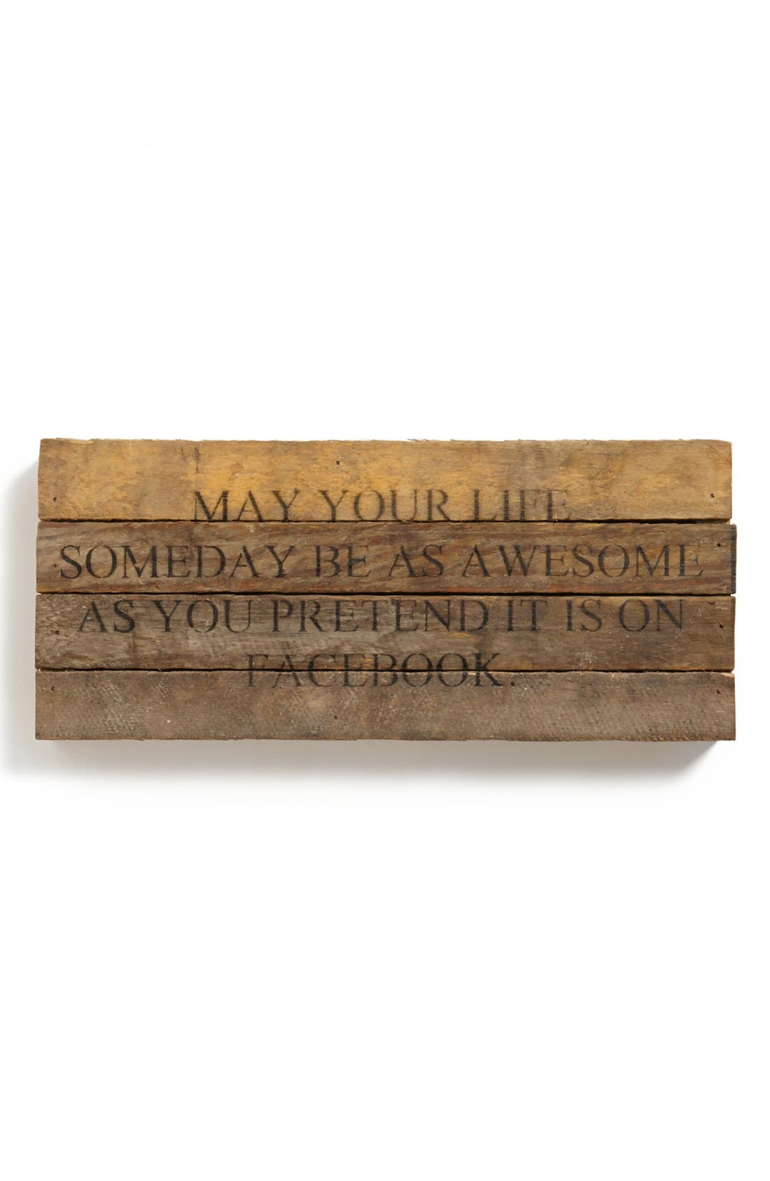 Alternate Image 1 Selected - Second Nature By Hand 'May Your Life' Repurposed Wood Wall Art
