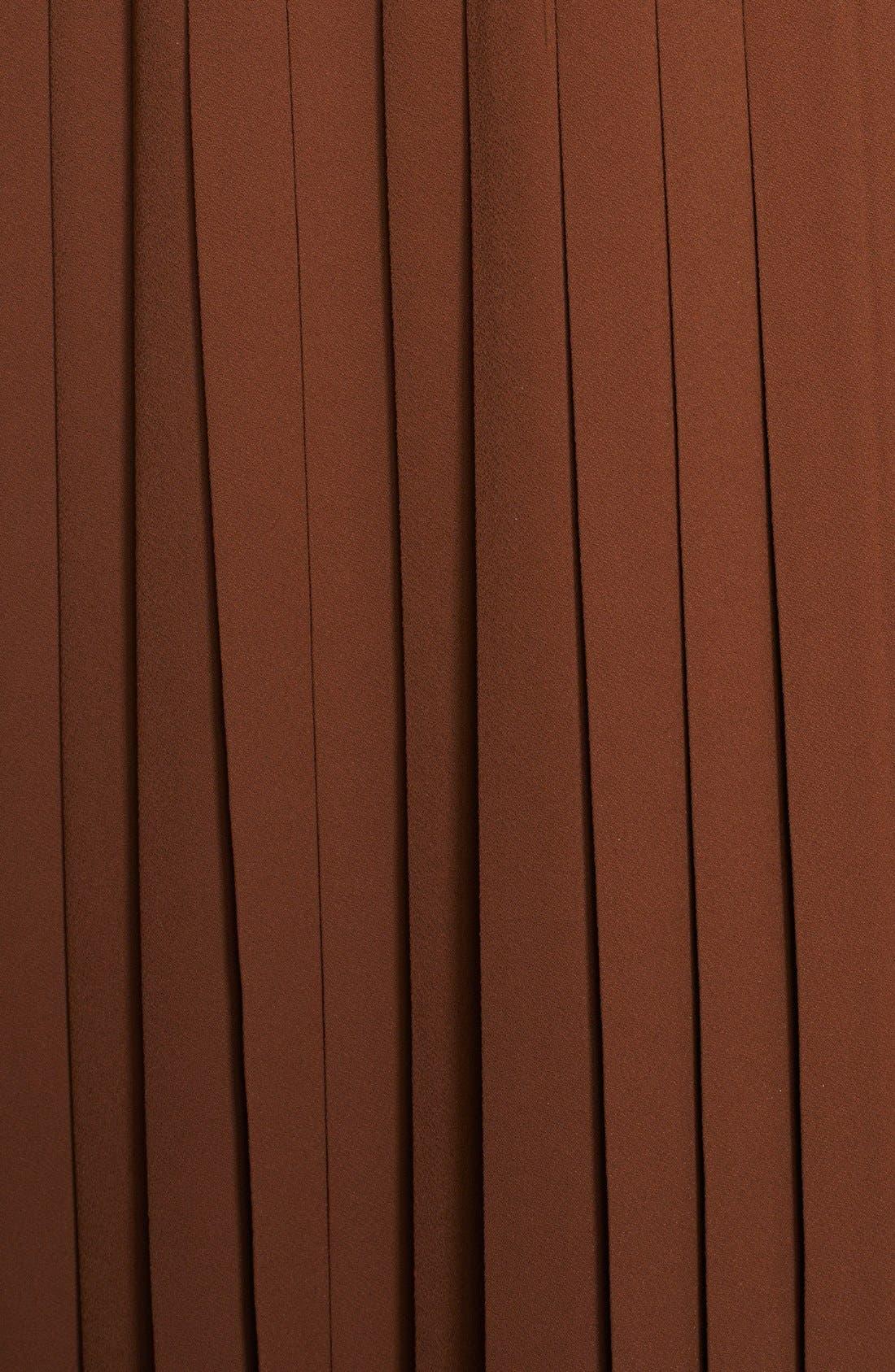 Alternate Image 3  - Michael Kors Leather Belted Pleat Dress