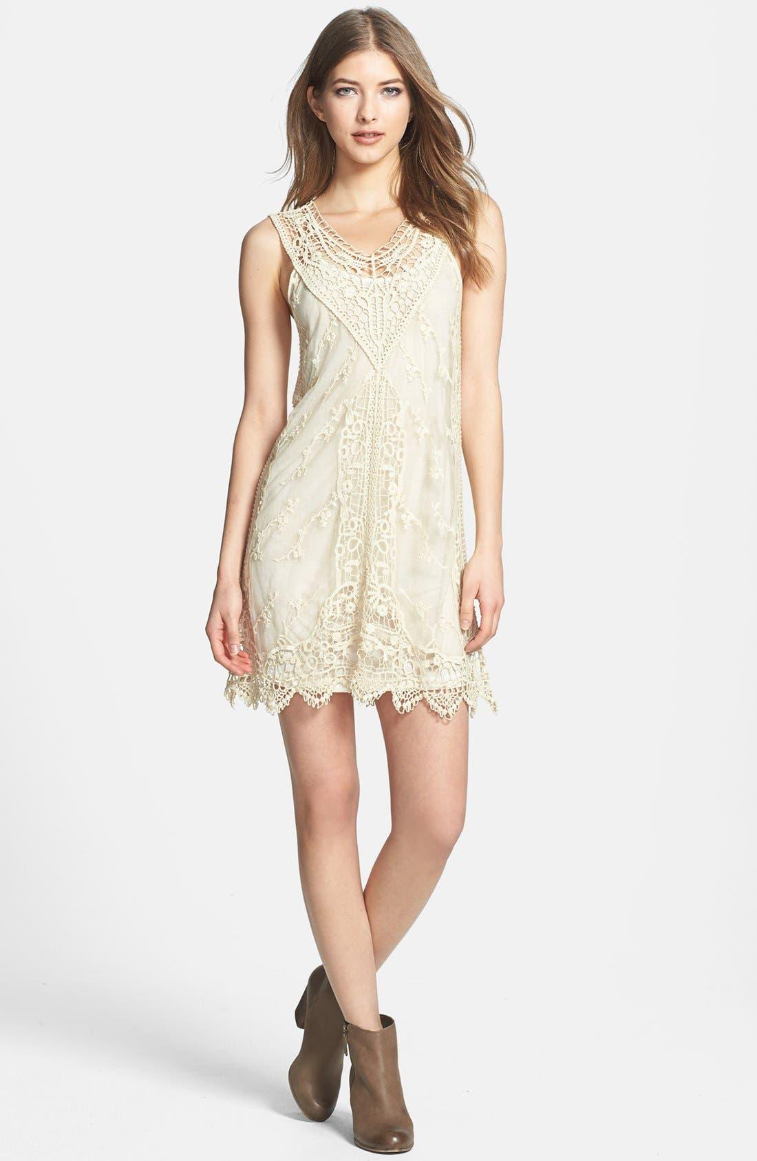 Alternate Image 2  - Black Swan Lace Shift Dress