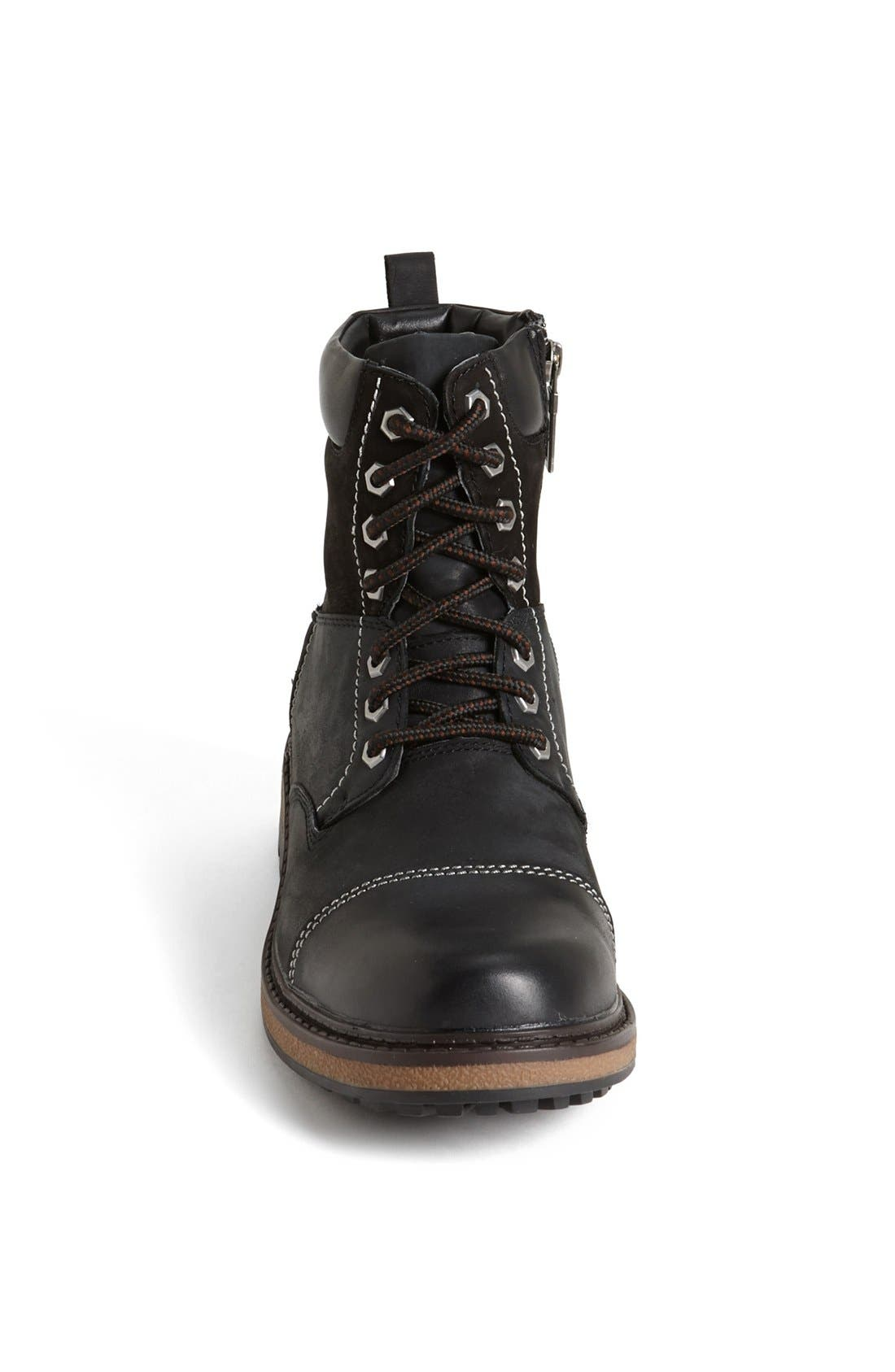 'Jaro' Waterproof Boot,                             Alternate thumbnail 3, color,                             Black