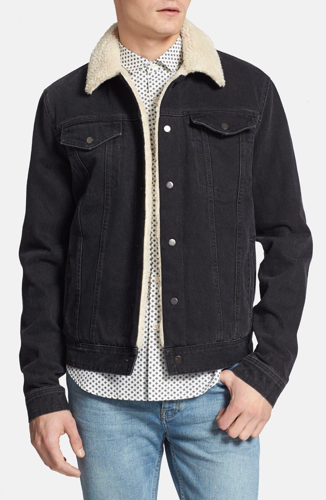 Alternate Image 1 Selected - Topman Lined Denim Jacket