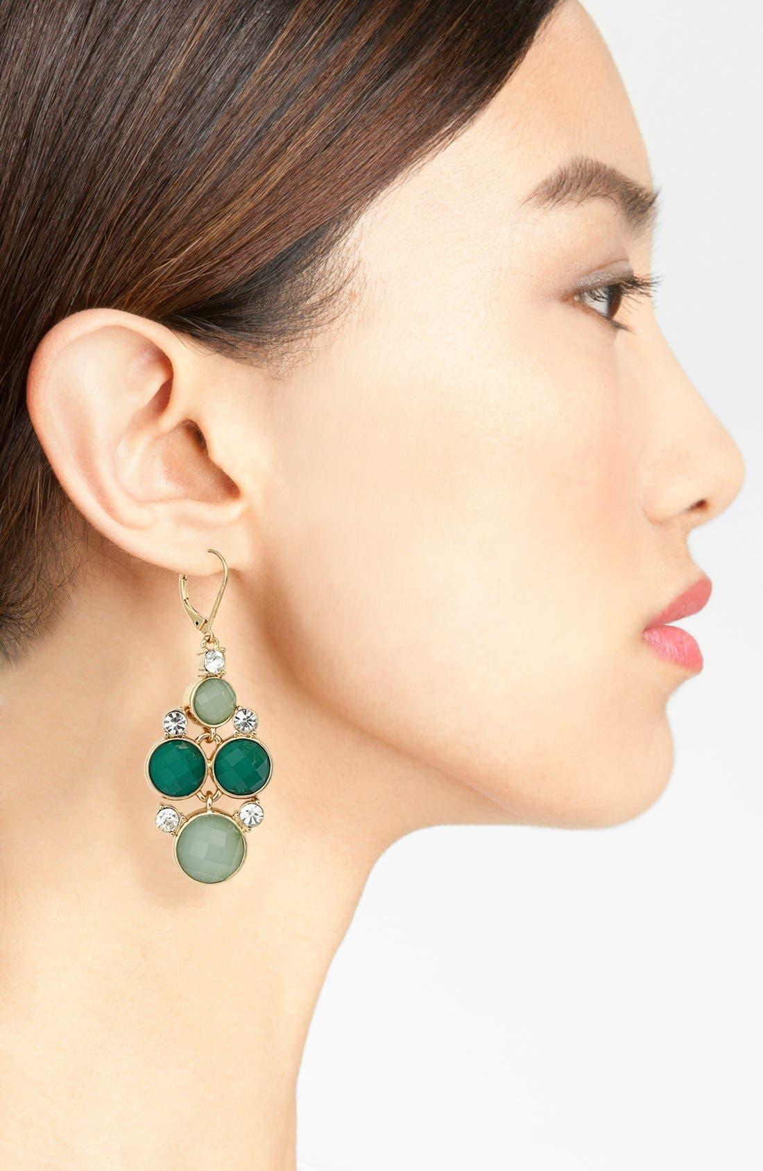 Alternate Image 2  - Anne Klein Chandelier Earrings
